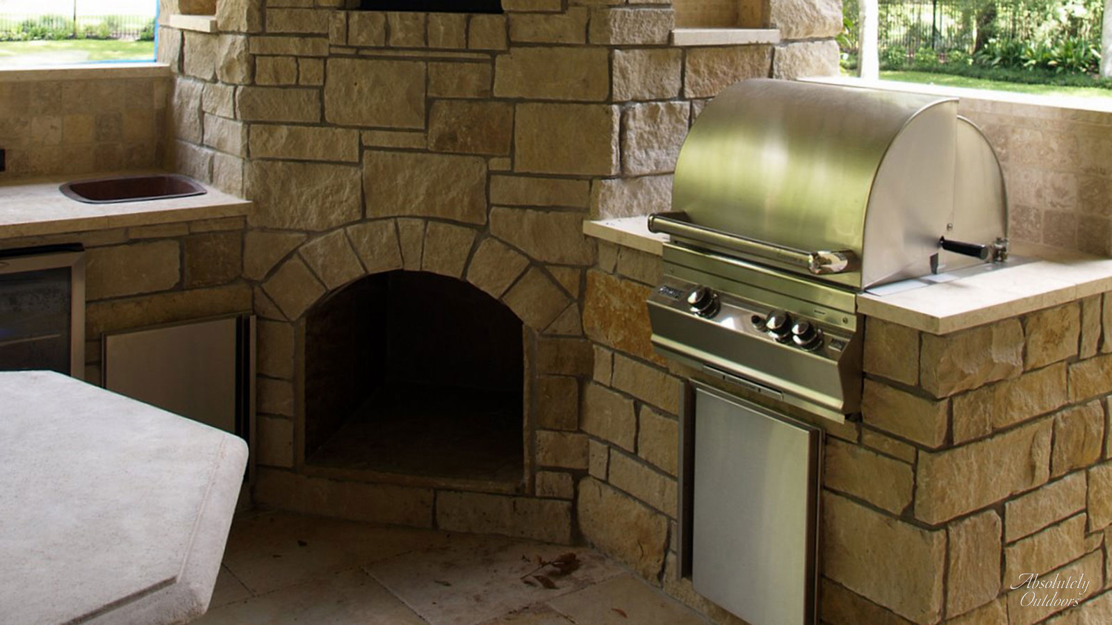 The Woodlands Custom Fire Place Architectural Design
