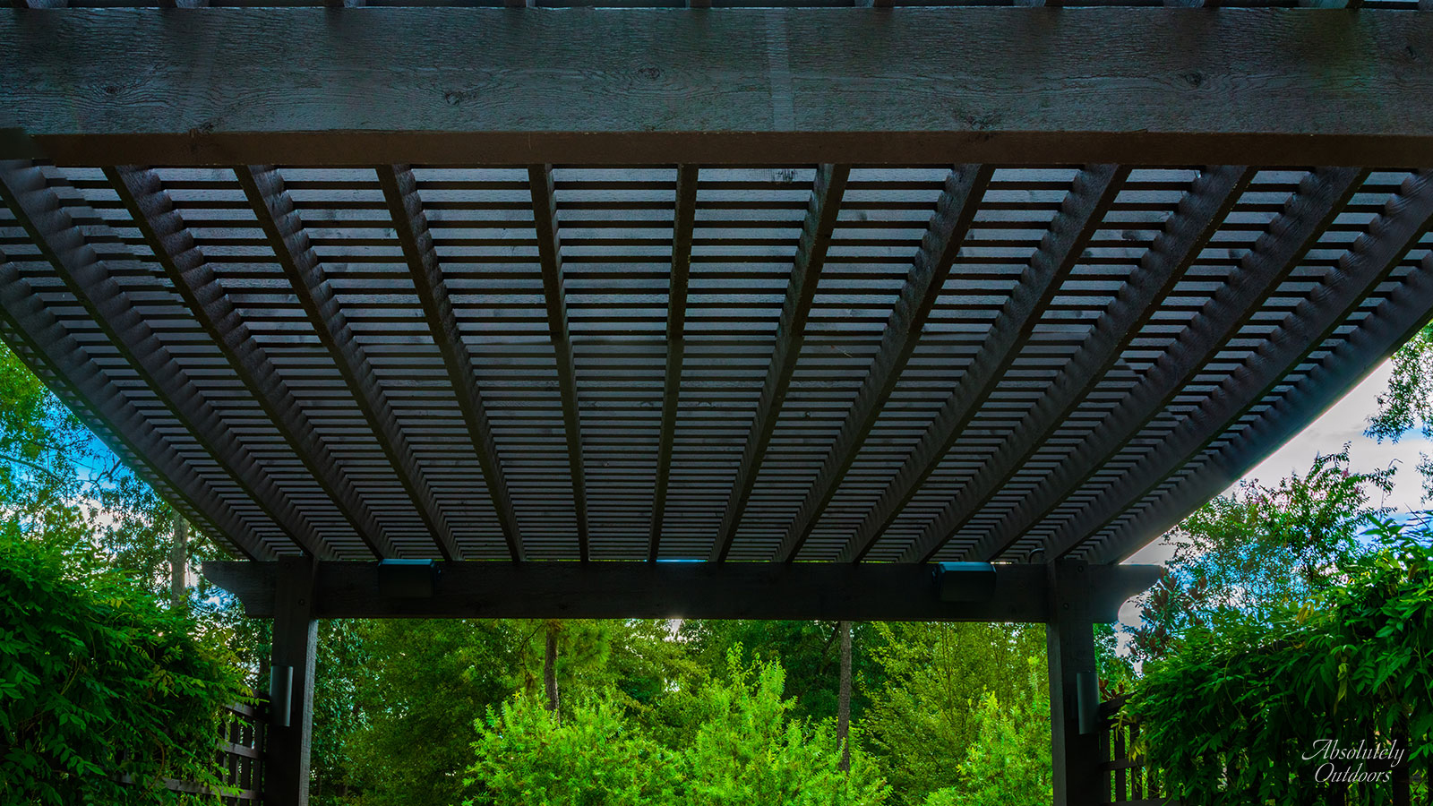 The Woodlands Custom Landscape Design Pergola