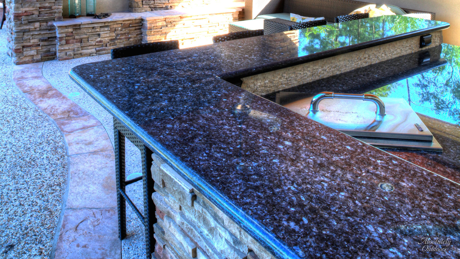 The Woodlands Custom Bar Landscape Design