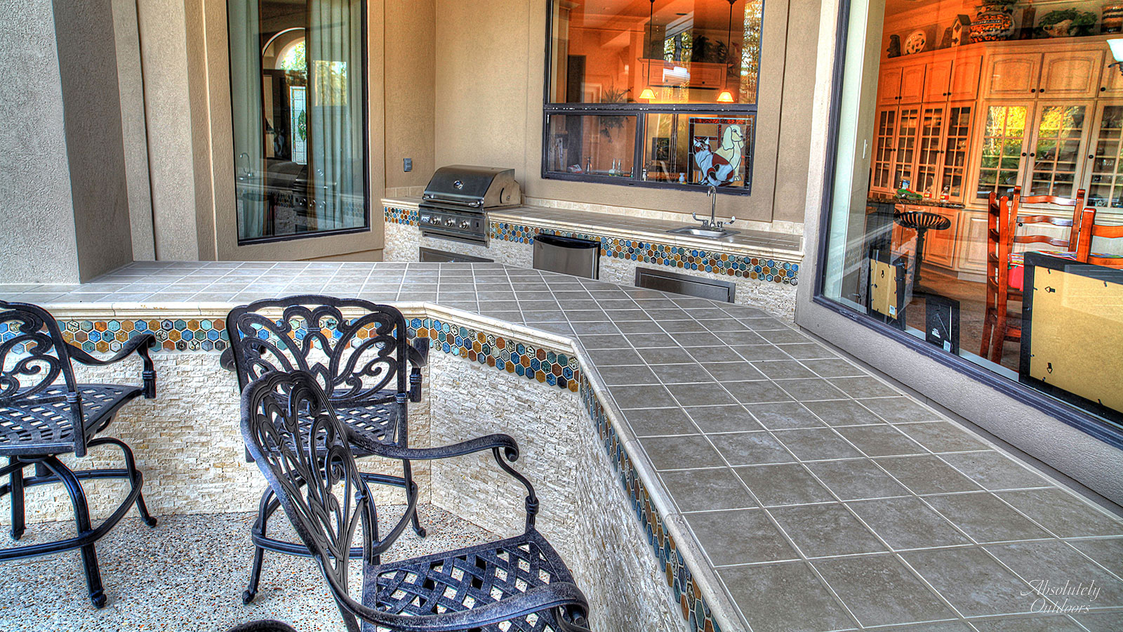 The Woodlands TX Custom Outdoor Bar Landscape Design