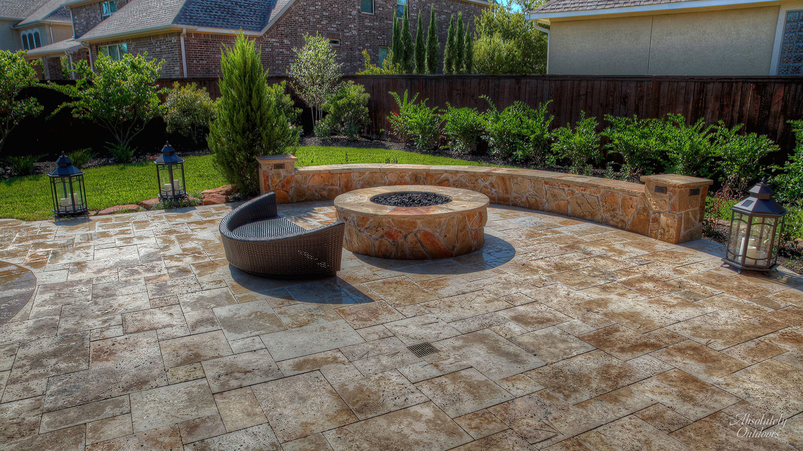Tomball TX Custom Fire pit Architectural Design