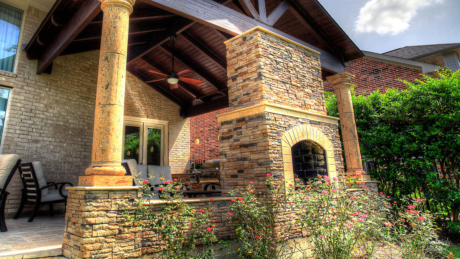 Tomball TX Custom Fireplace Architectural Design