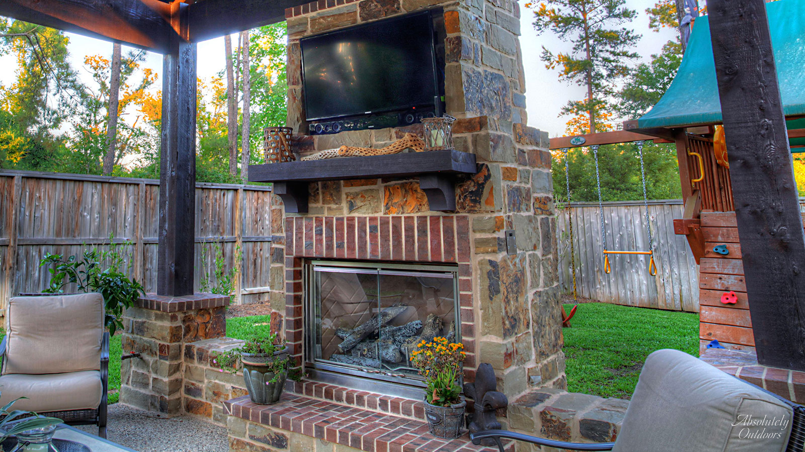 The Woodlands Fireplace Architectural Design