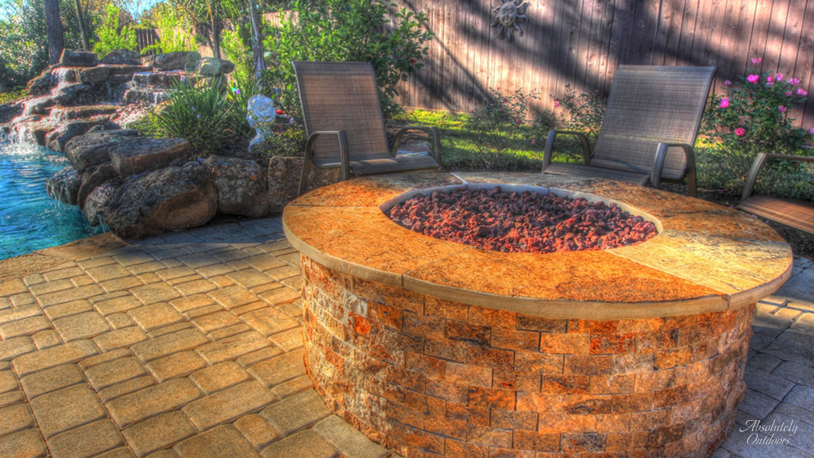The Woodlands Fire Pit Architectural Design