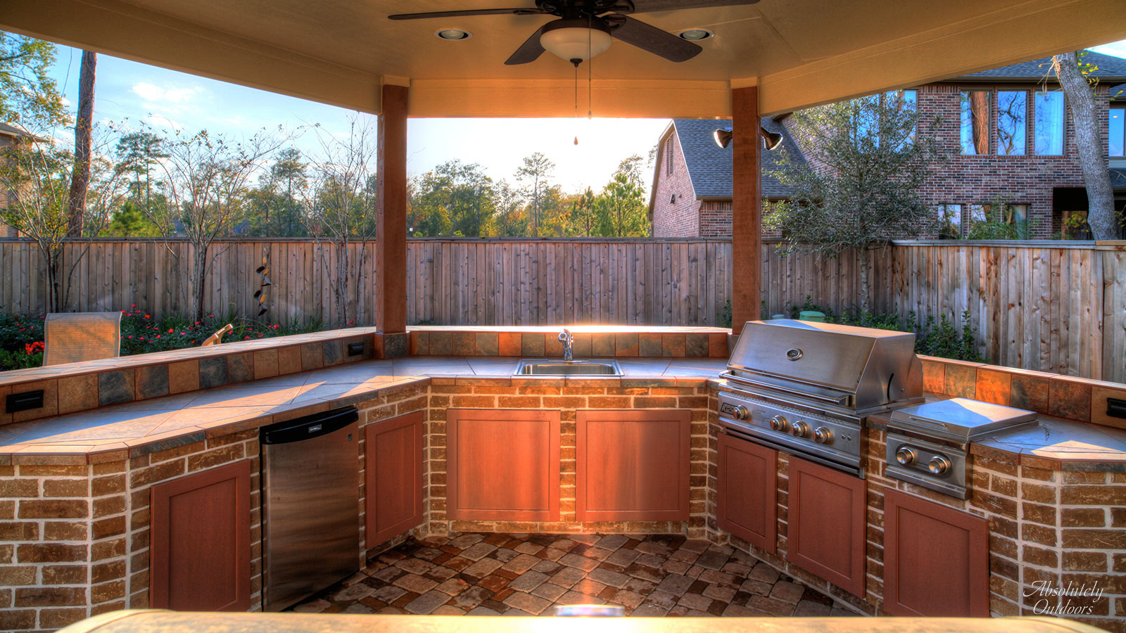 The Woodlands Custom Grill Architectural Design
