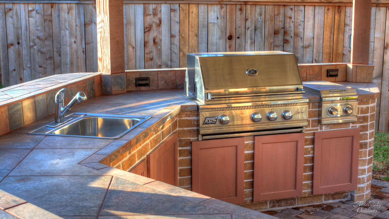 The Woodlands Custom Outdoor Grill Architectural Design