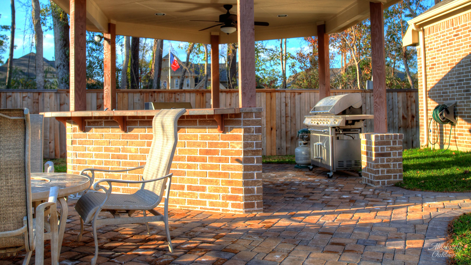The Woodlands Custom Landscape Design Outdoor Grill