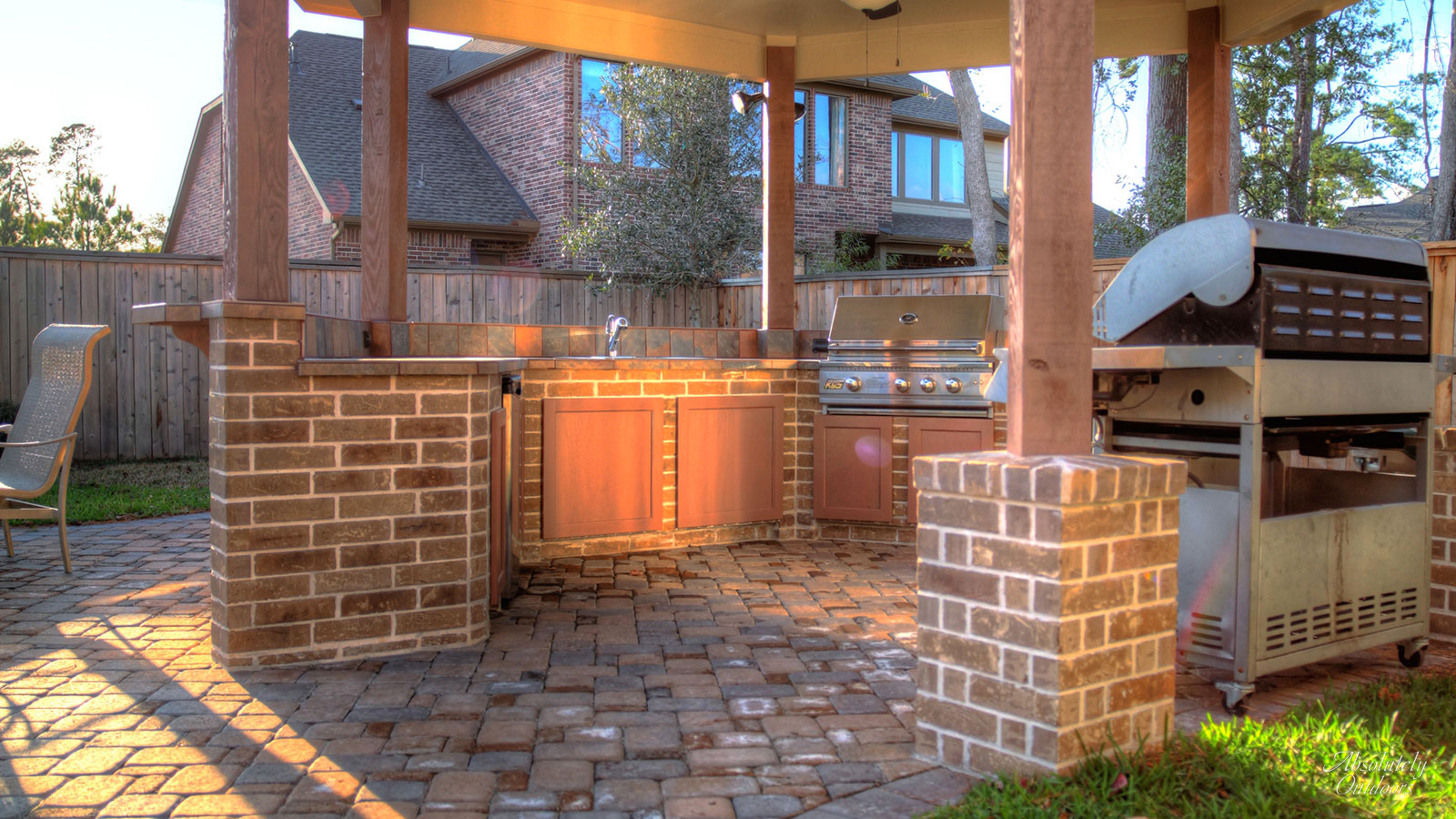 The Woodlands Custom Landscape Design Grill