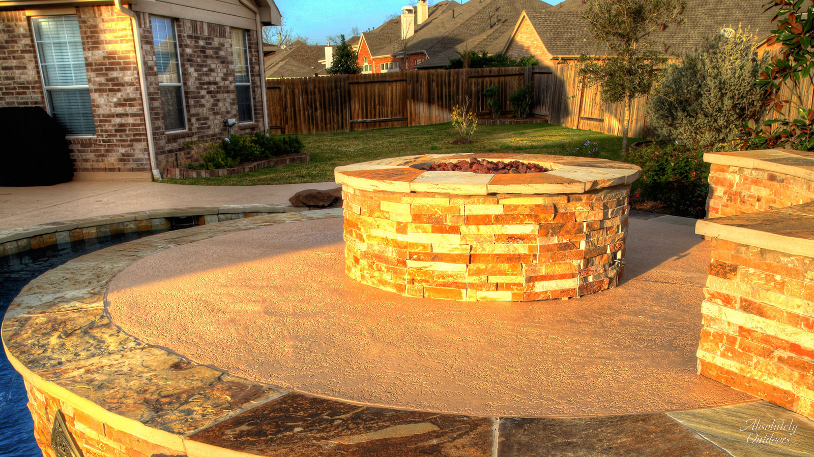 The Woodlands TX Fire Pit Architectural Design
