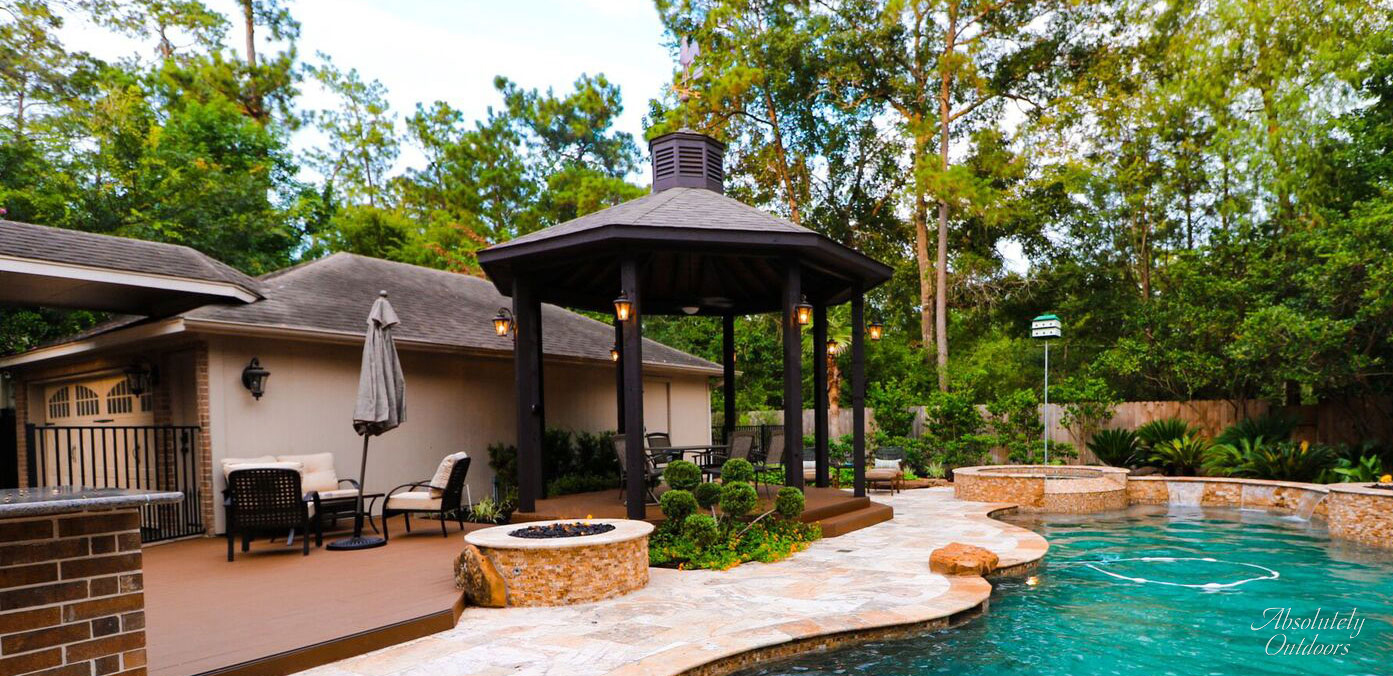 Luxury Landscaping pergola the woodlands tx