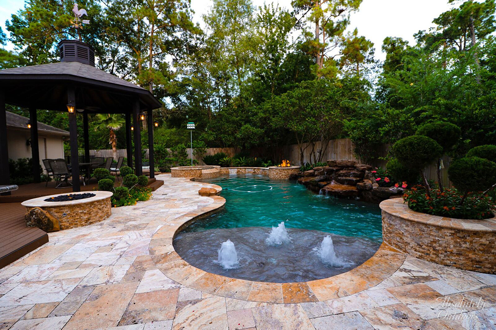 Luxury Landscaping the woodlands tx